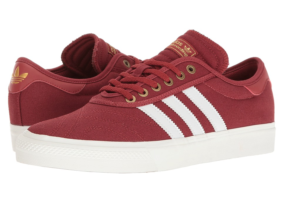 adidas Skateboarding - Adi-Ease Premiere ADV (Mystery Red/Crystal White/Gold Metallic) Men's Skate Shoes