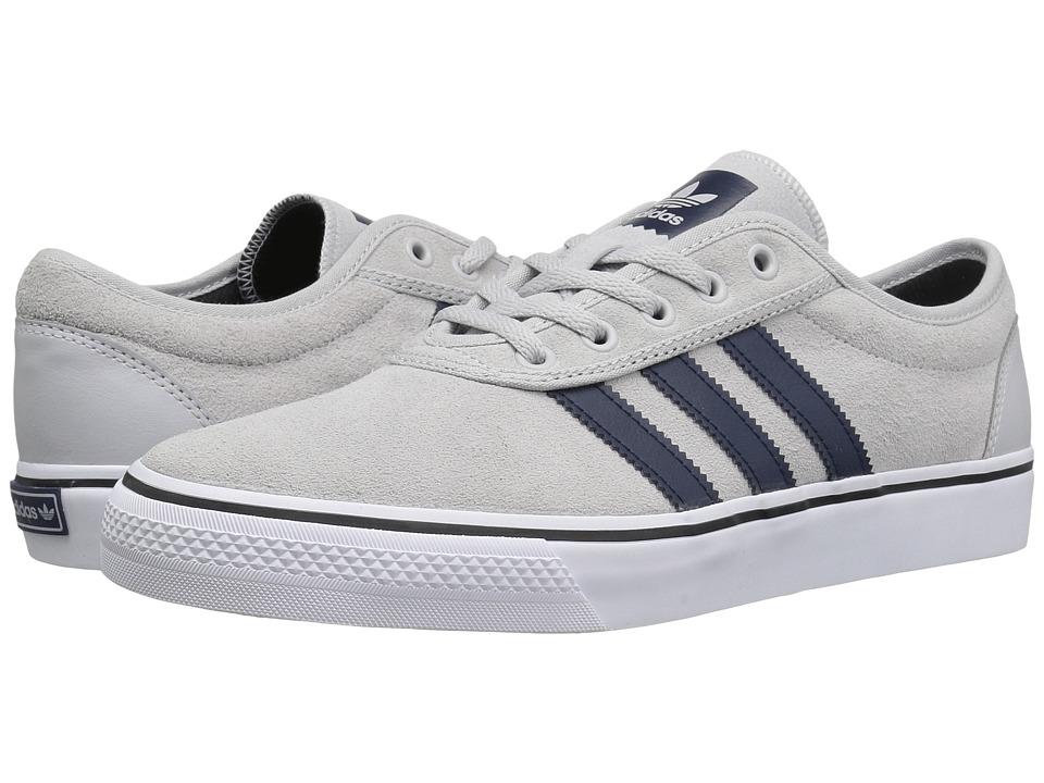 adidas Skateboarding - Adi-Ease (Light Grey Heather Solid Grey/Collegiate Navy/White) Men's Skate Shoes