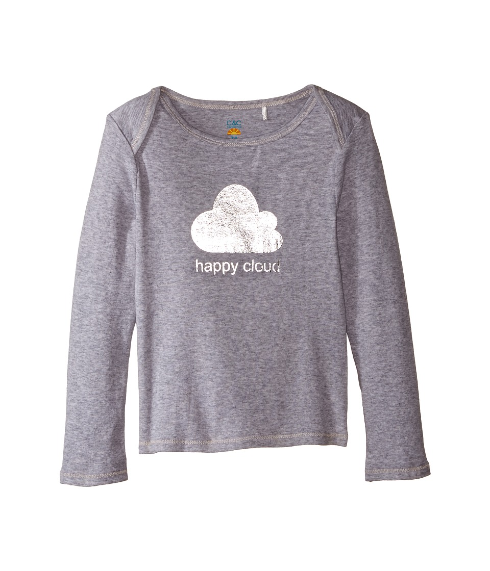 C&C California Kids - Happy Cloud Top (Infant) (Light Grey Heather) Girl's Clothing