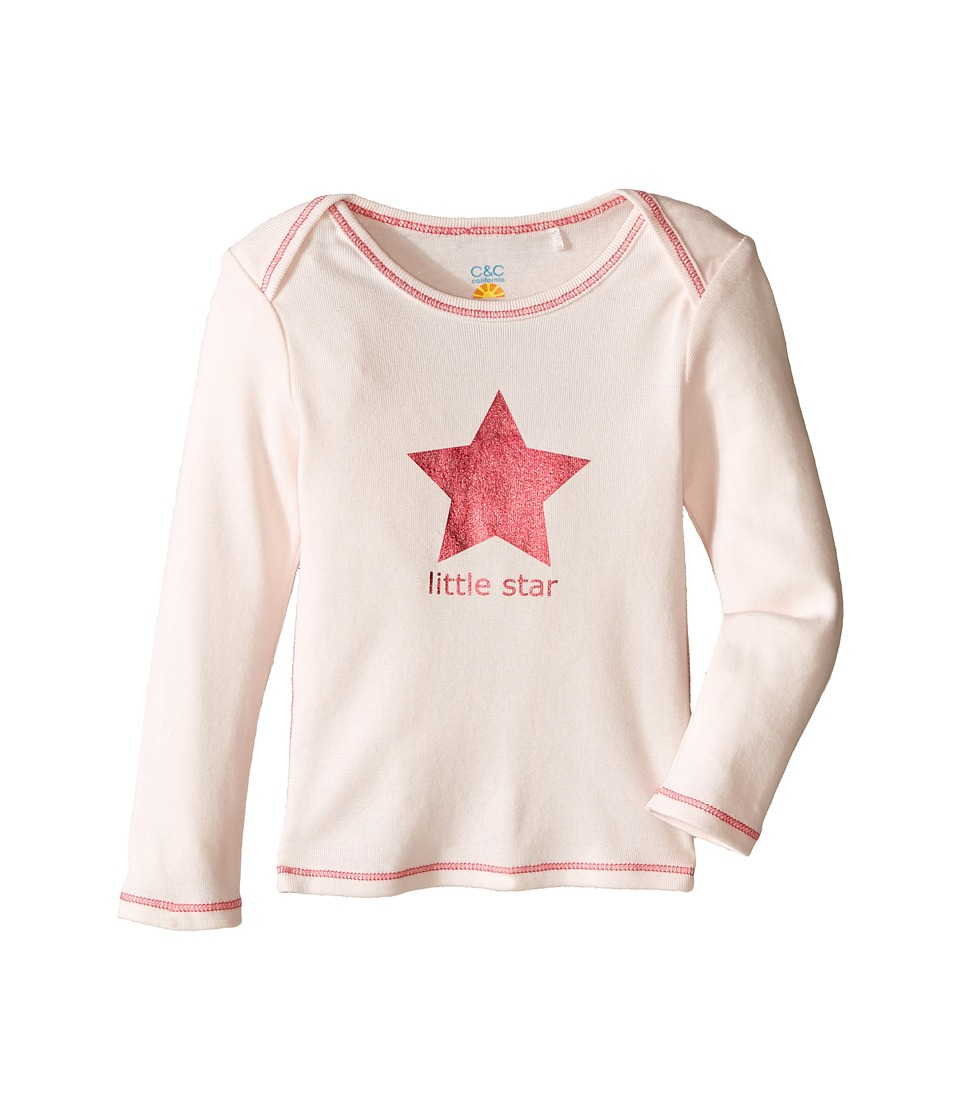 C&C California Kids - Little Star Top (Infant) (Pink Bow) Girl's Clothing
