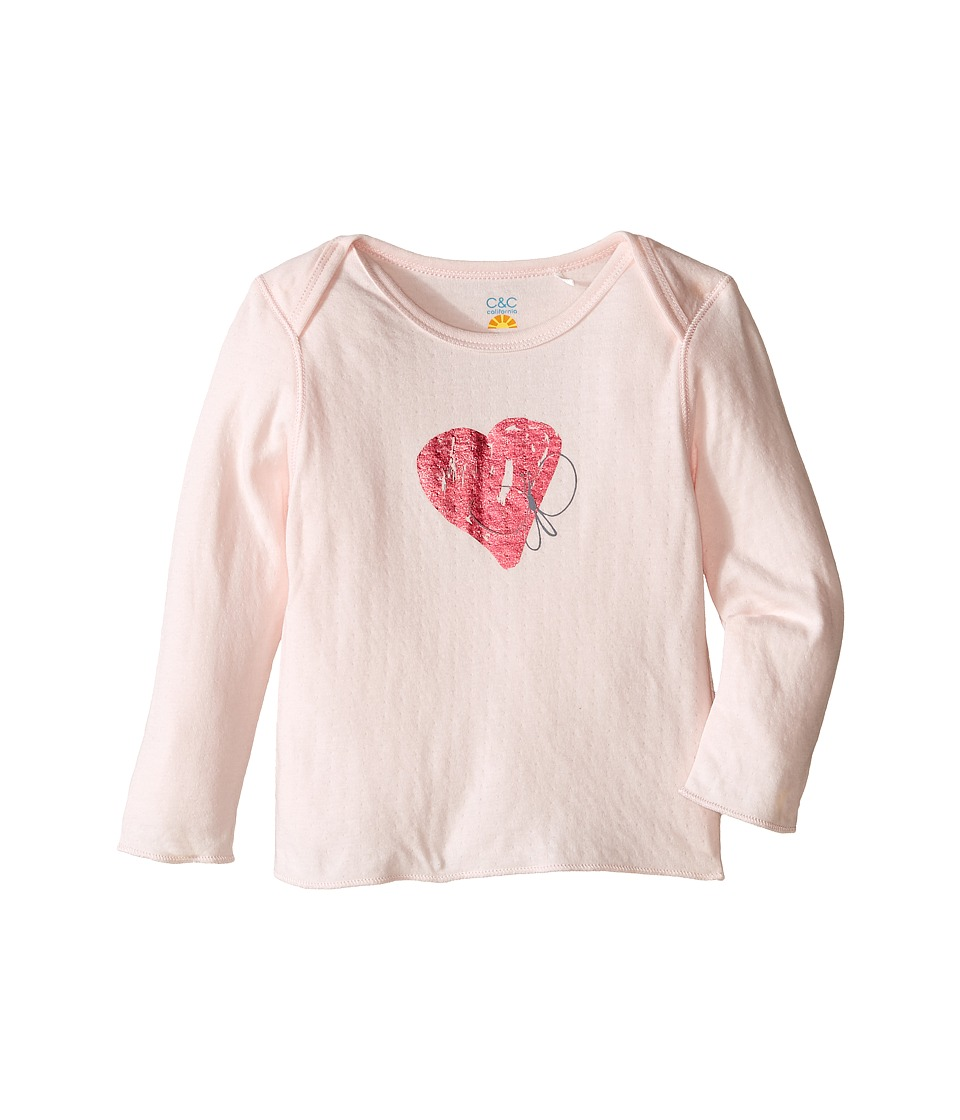 C&C California Kids - Heart Top (Infant) (Pink Bow) Girl's Clothing