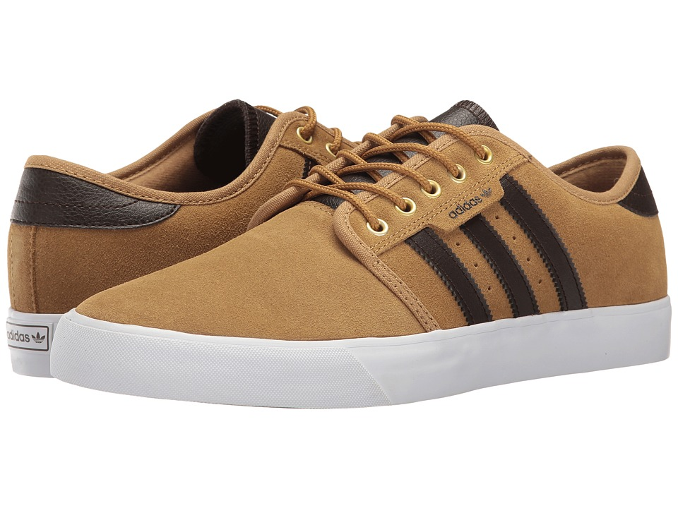 adidas Skateboarding - Seeley (Mesa/Dark Brown/White) Men's Skate Shoes