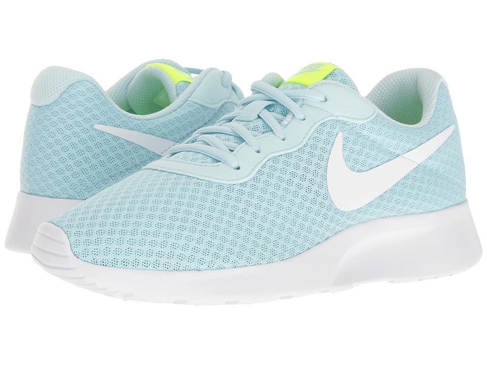 Nike - Tanjun (Glacier Blue/White/Volt) Women's Running Shoes