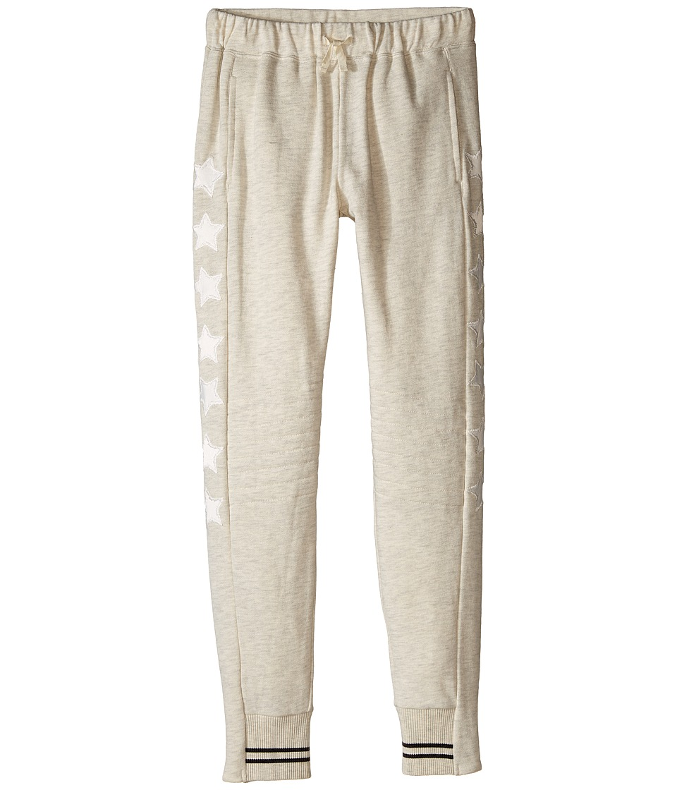 C&C California Kids - French Terry Slim Fit Jogger with Quilted Knees (Little Kids/Big Kids) (Oat Heather) Girl's Casual Pants