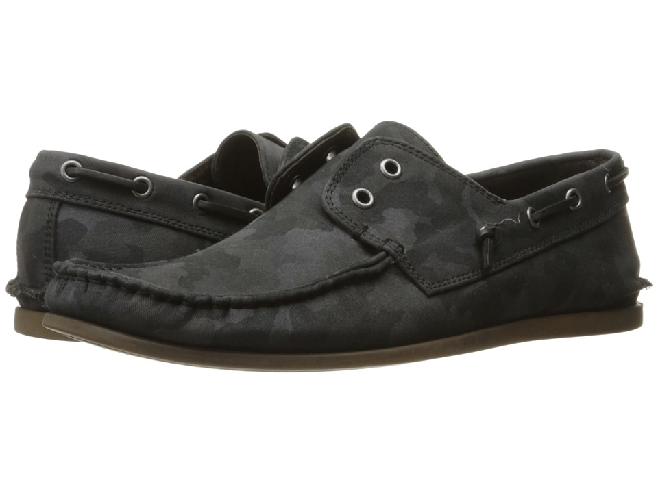 John Varvatos - Schooner Boat (Dark Charcoal) Men's Slip on Shoes
