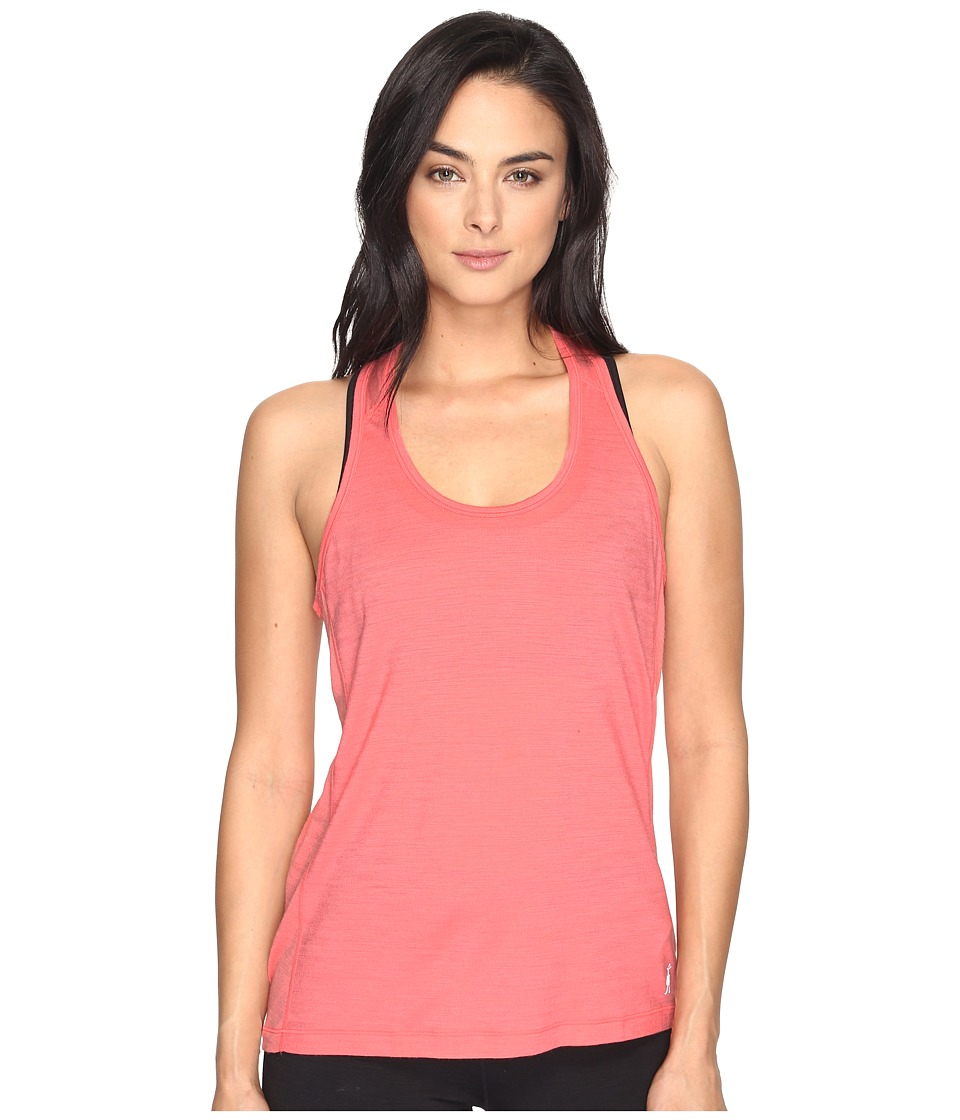 Smartwool - PhD Ultra Light Tank Top (Bright Coral) Women's Sleeveless