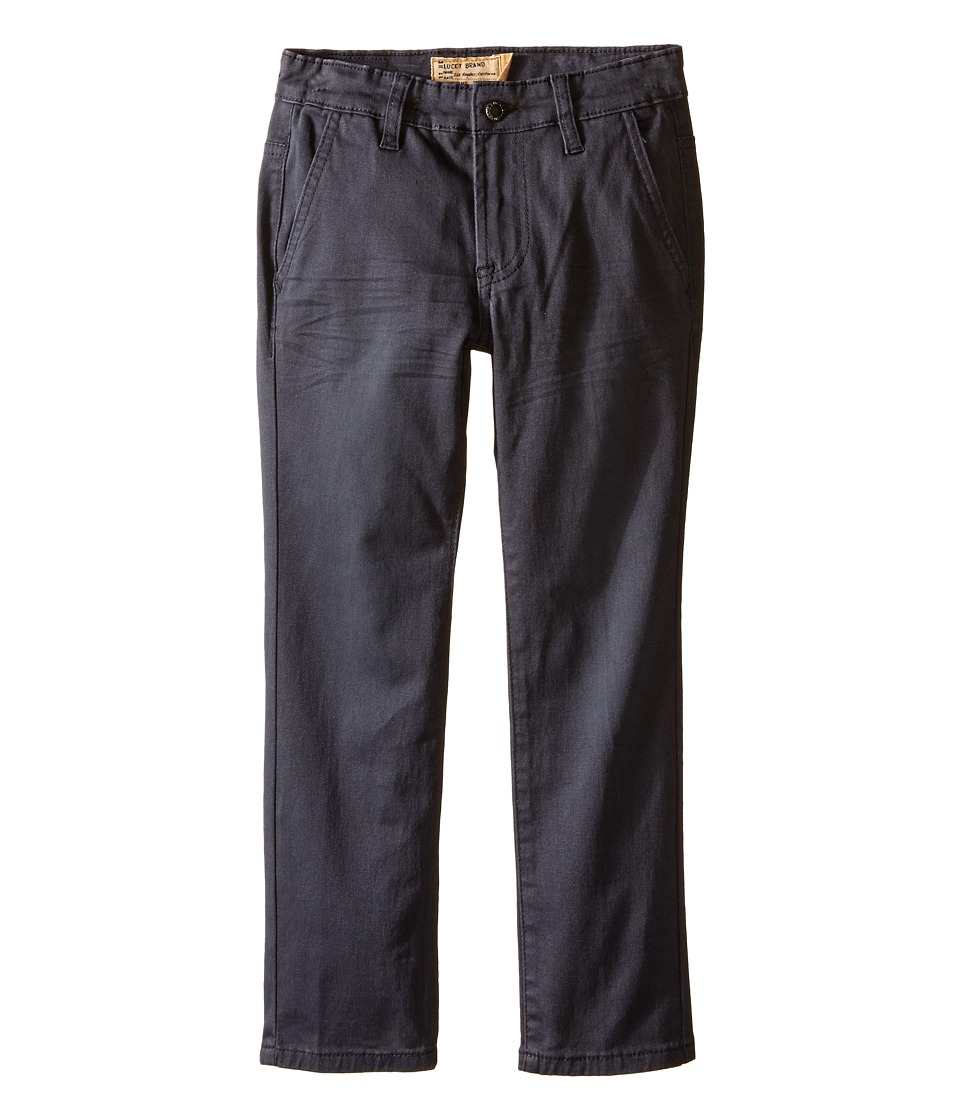 Lucky Brand Kids - Slim Fit Twill Pants w/ Slash Front Pockets (Little Kids/Big Kids) (Nine Iron) Boy's Casual Pants