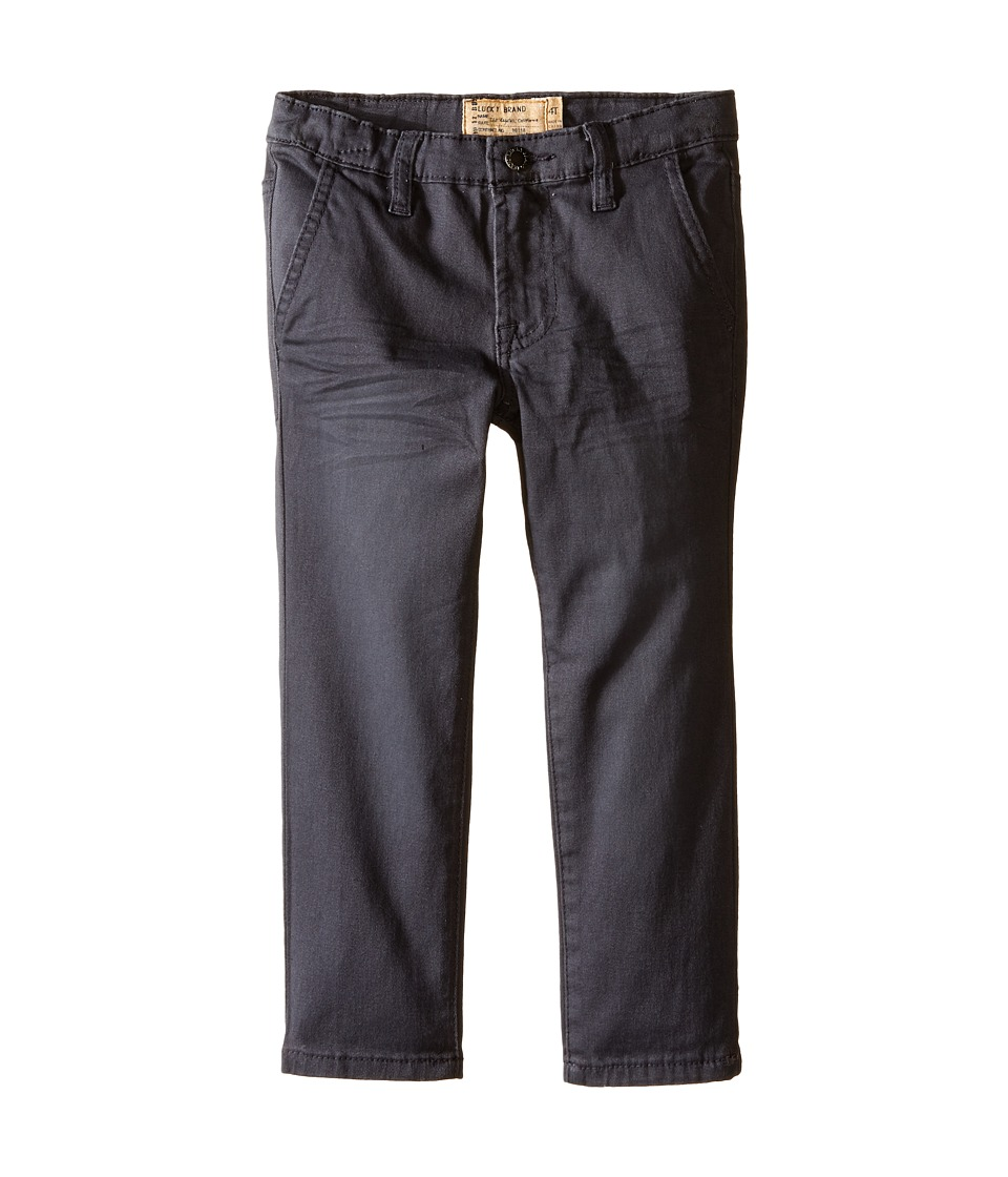 Lucky Brand Kids - Slim Fit Twill Pants w/ Slash Front Pockets (Toddler) (Nine Iron) Boy's Casual Pants