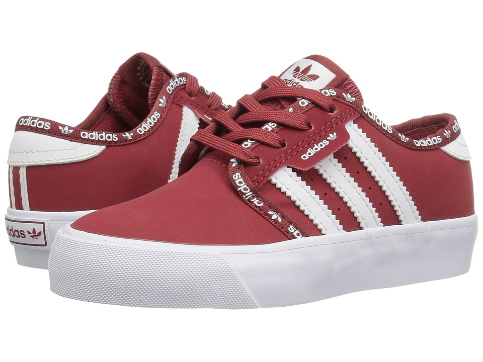 adidas Skateboarding - Seeley J (Little Kid/Big Kid) (Mystery Red/Mystery Red/White) Skate Shoes