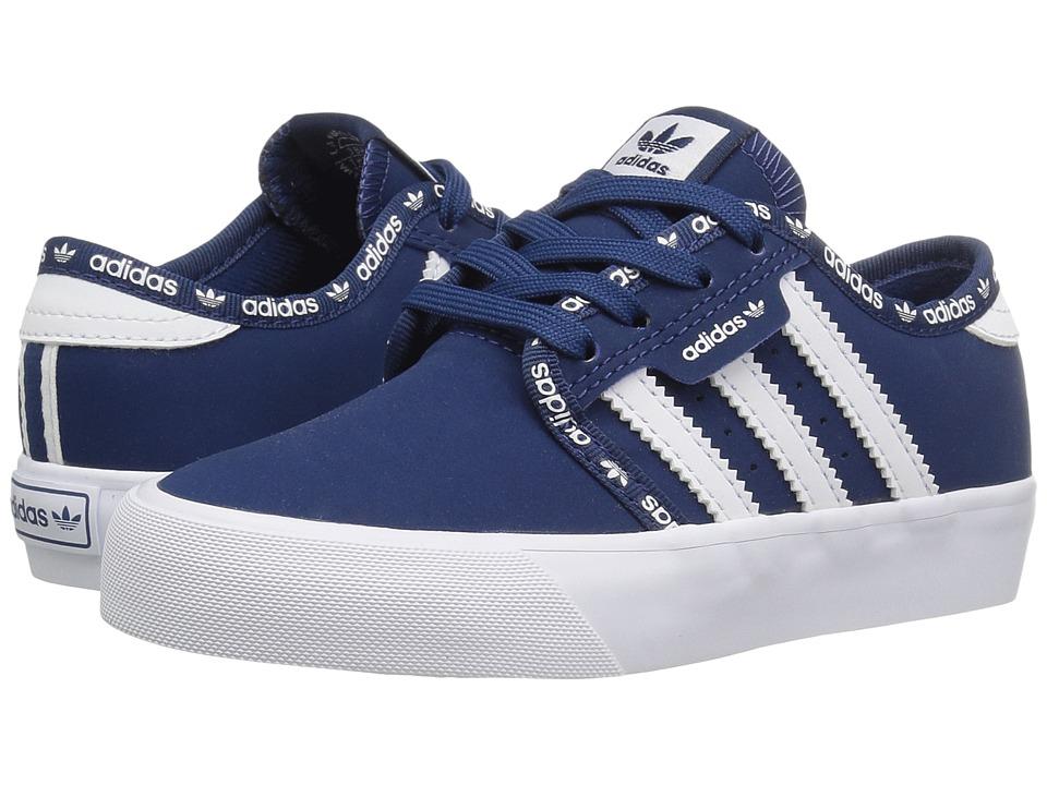 adidas Skateboarding - Seeley J (Little Kid/Big Kid) (Mystery Blue/Mystery Blue/White) Skate Shoes
