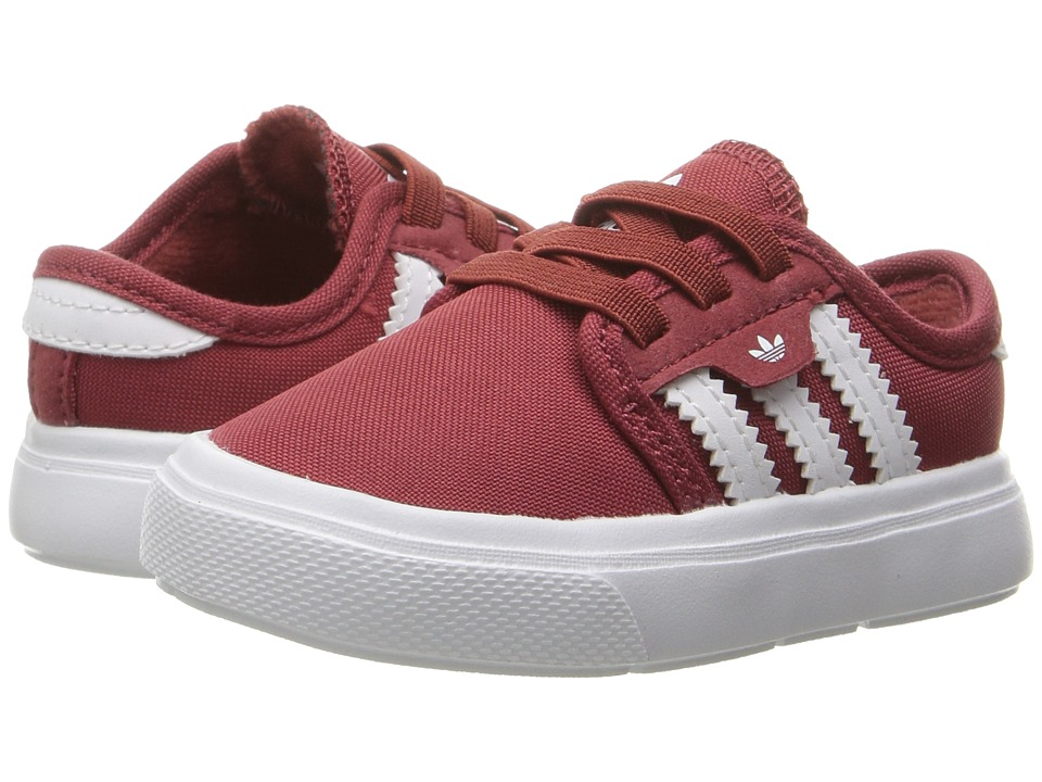 adidas Skateboarding - Seeley I (Infant/Toddler) (Mystery Red/Mystery Red/White) Skate Shoes