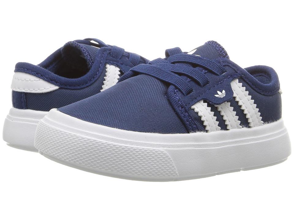adidas Skateboarding - Seeley I (Infant/Toddler) (Mystery Blue/Mystery Blue/White) Skate Shoes