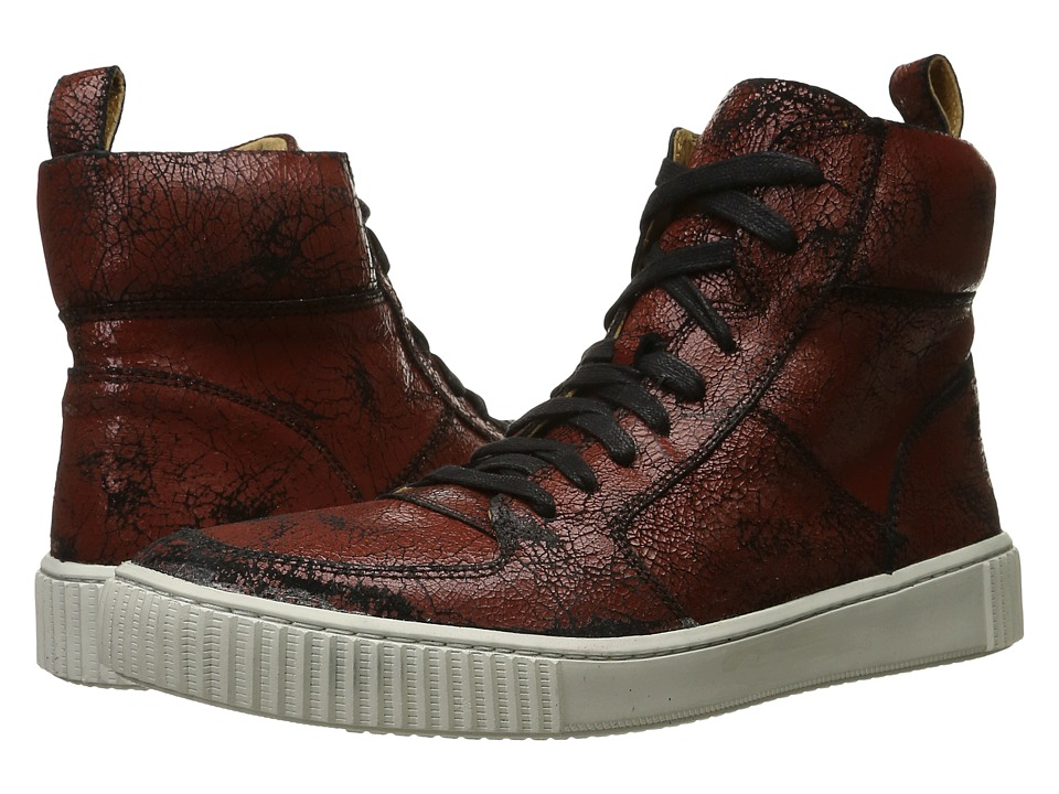 John Varvatos - Bedford Hi Top (Brick) Men's Lace up casual Shoes