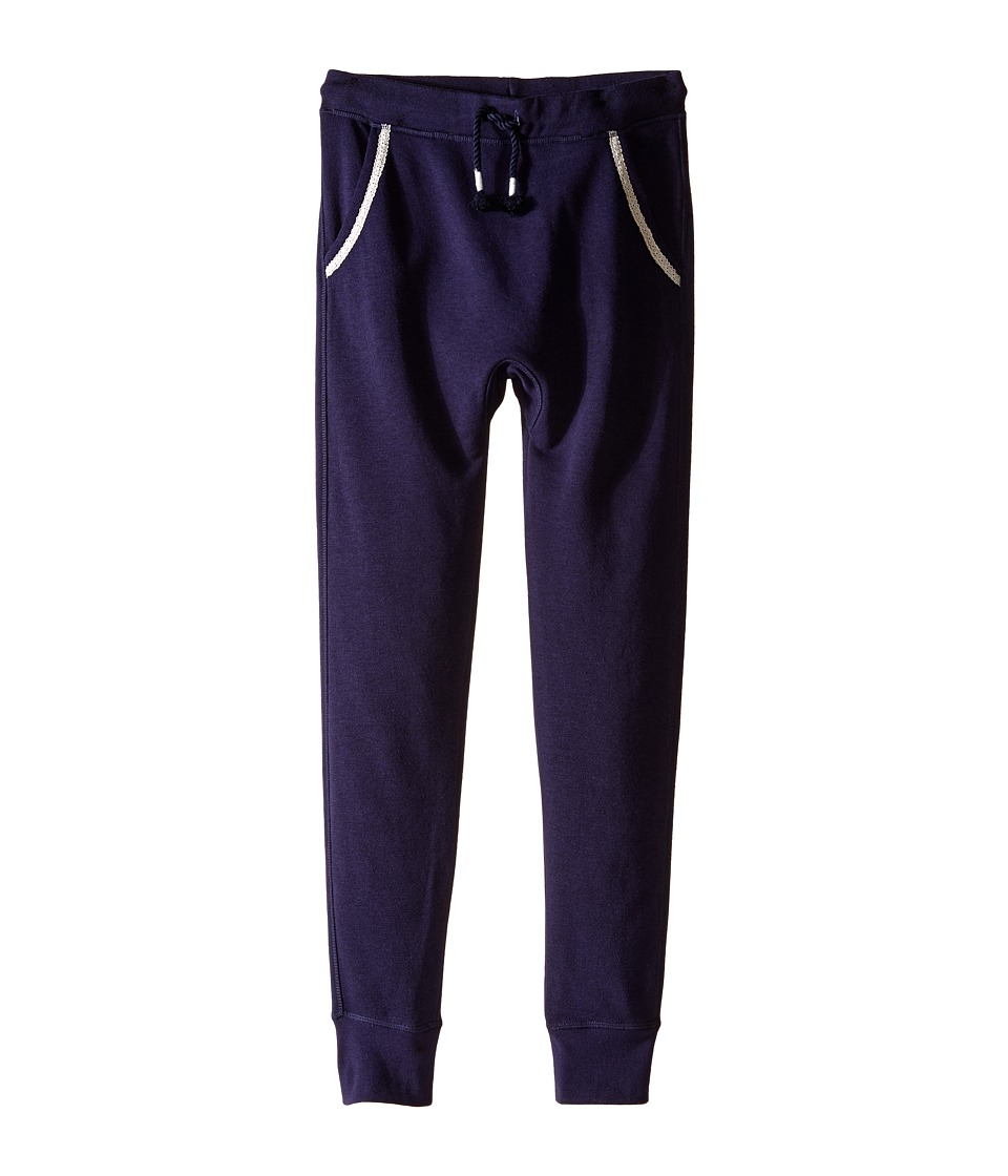 C&C California Kids - French Terry Drop Inseam Slip Fit Joggers (Little Kids/Big Kids) (Navy) Girl's Casual Pants