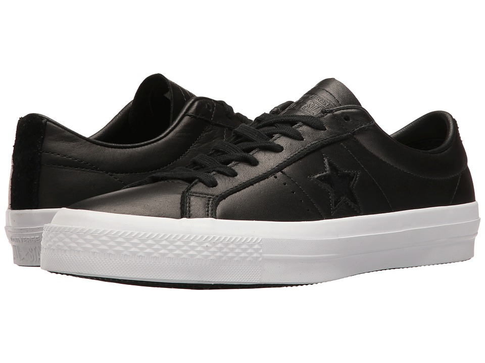 Converse Skate One Star Leather Ox (Black/White/Black) Men