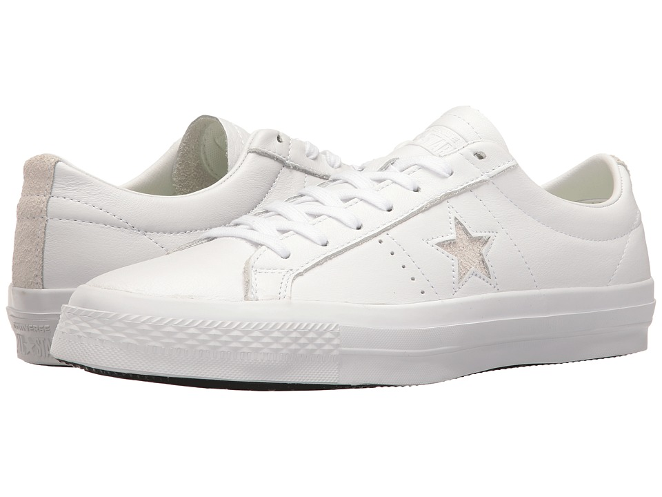 Converse Skate One Star Leather Ox (White/White/Black) Men