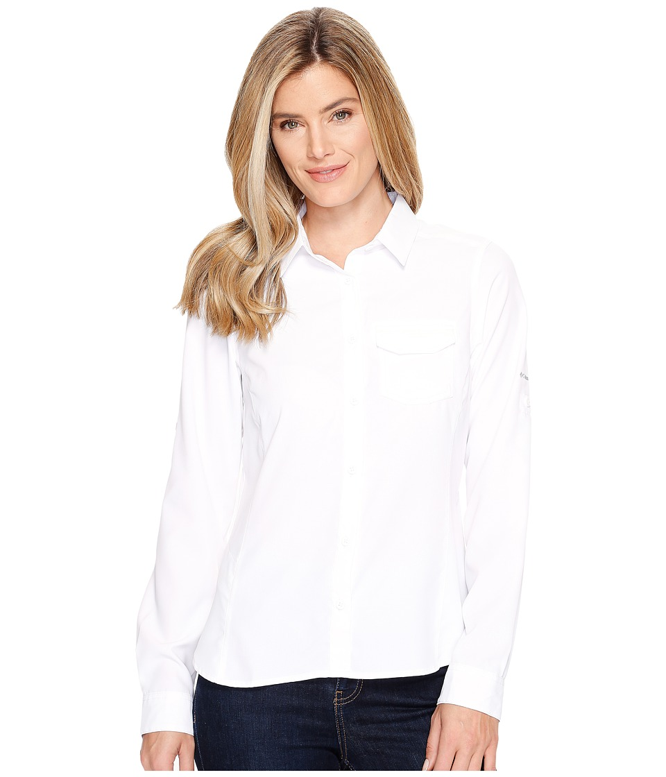 Columbia - East Ridge II Long Sleeve Shirt (White) Women's Long Sleeve Button Up