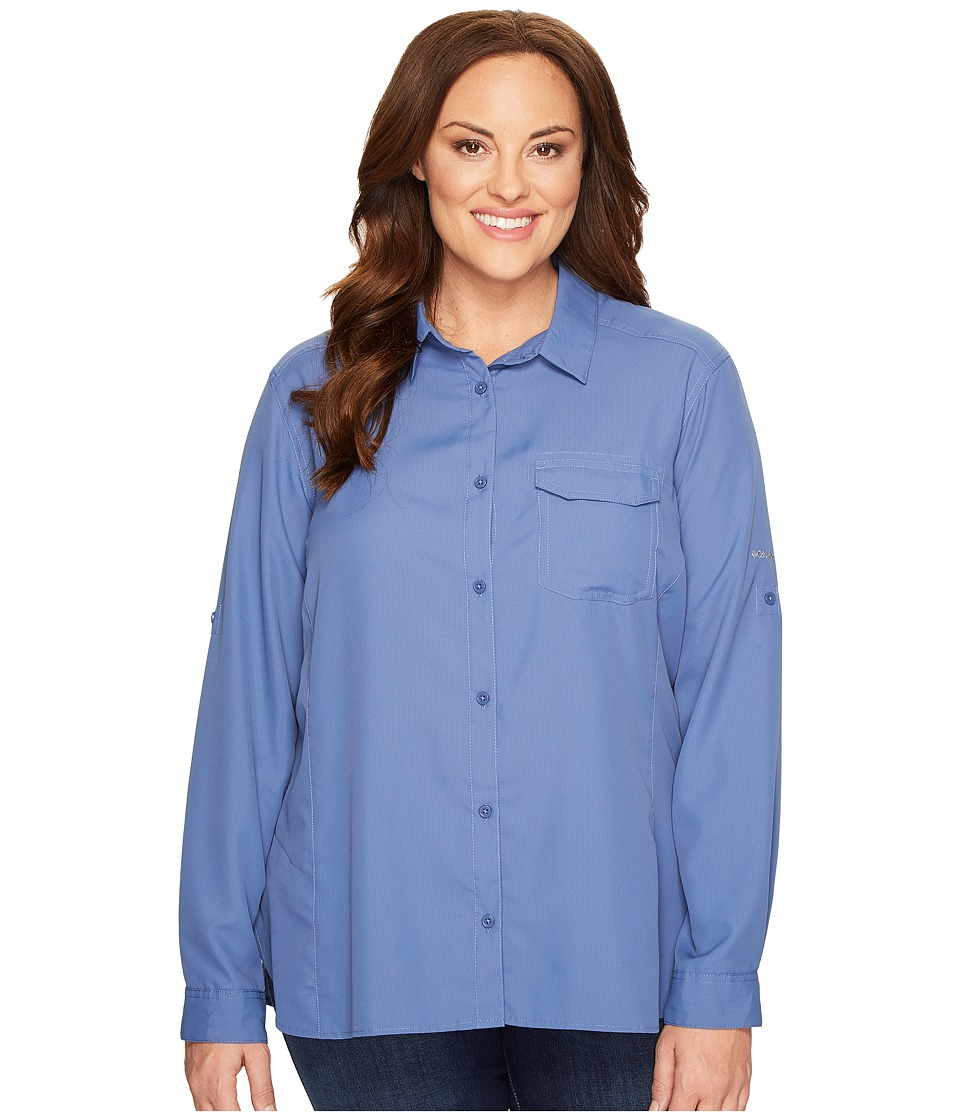 Columbia - Plus Size East Ridge II Long Sleeve Shirt (Bluebell) Women's Long Sleeve Button Up