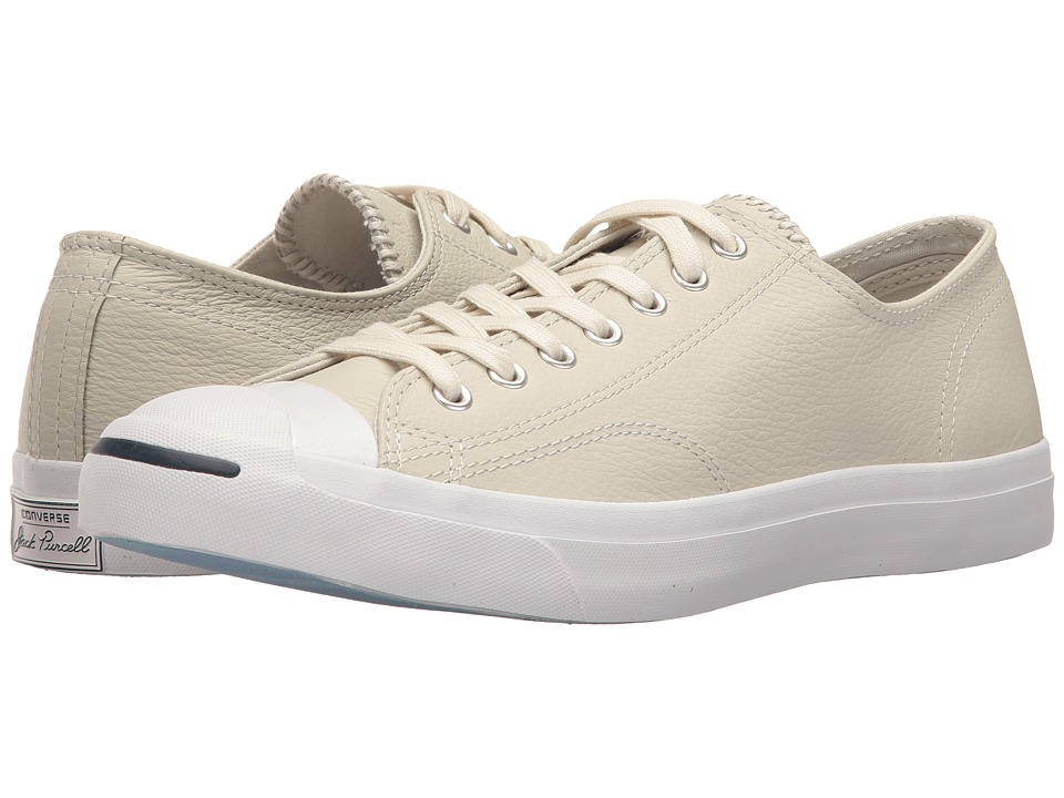 Converse - Jack Purcell(r) Jack Leather Ox (Buff/Buff/White) Classic Shoes