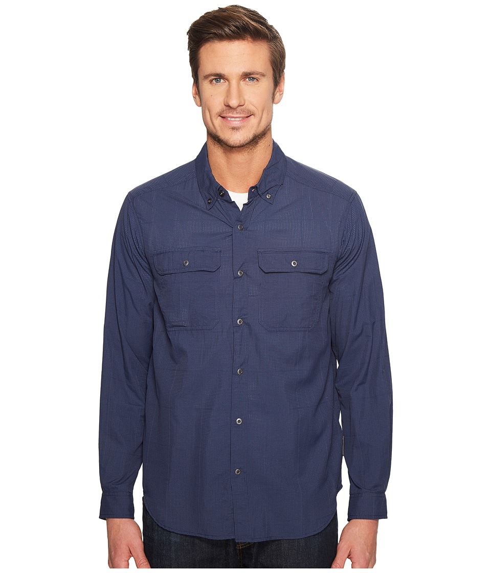 ExOfficio - Ventana Long Sleeve Shirt (Navy) Men's Long Sleeve Button Up