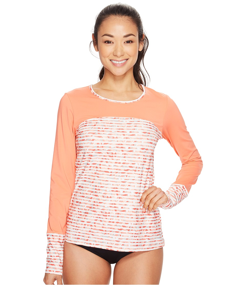 Columbia - Siren Splash II Long Sleeve Shirt (Lychee Stripe) Women's Long Sleeve Pullover