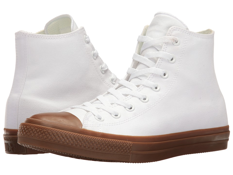 Converse - Chuck Taylor(r) All Star(r) II Gum Hi (White/White/Gum) Classic Shoes