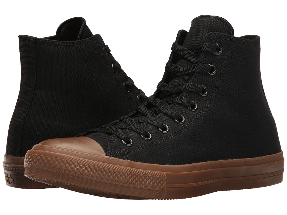 Converse - Chuck Taylor All Star II Gum Hi (Black/Black/Gum) Classic Shoes