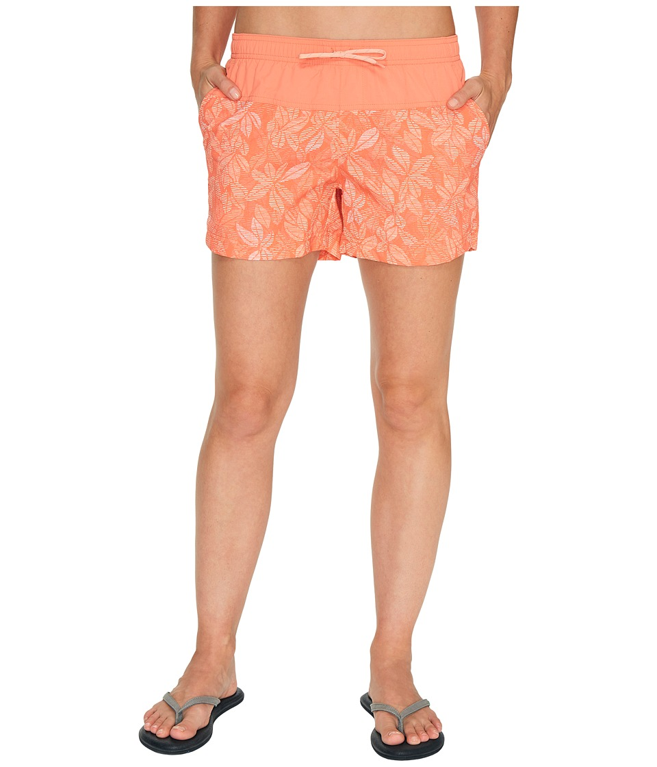 Columbia - Sandy River Printed Shorts (Lychee Floral Lines) Women's Shorts