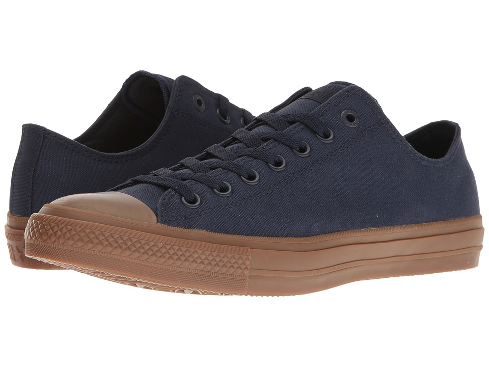 Converse - Chuck Taylor All Star II Gum Ox (Obsidian/Obsidian/Gum) Classic Shoes