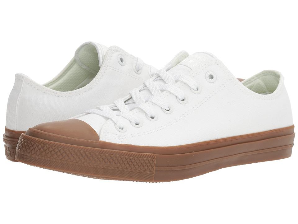 Converse - Chuck Taylor All Star II Gum Ox (White/White/Gum) Classic Shoes