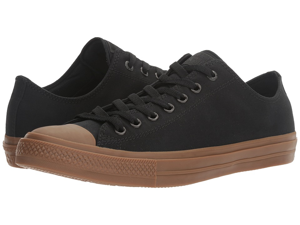 Converse Chuck Taylor All Star II Gum Ox (Black/Black/Gum) Classic Shoes