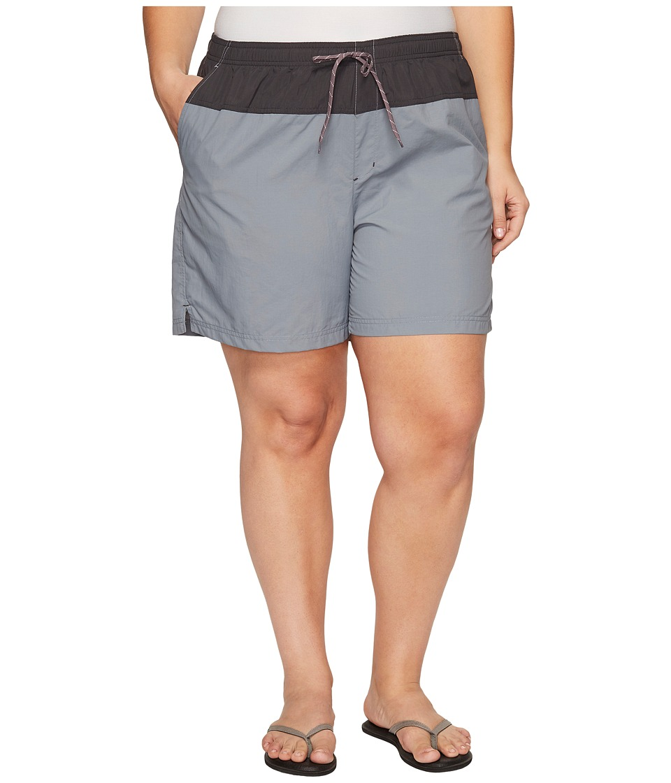 Columbia - Plus Size Sandy River Color Blocked Shorts (Grey Ash/Shark/Pulse) Women's Shorts