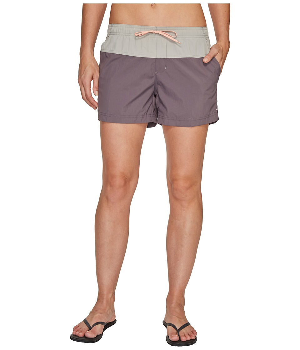 Columbia - Sandy River Color Blocked Shorts (Pulse/Flint Grey/Light Coral) Women's Shorts