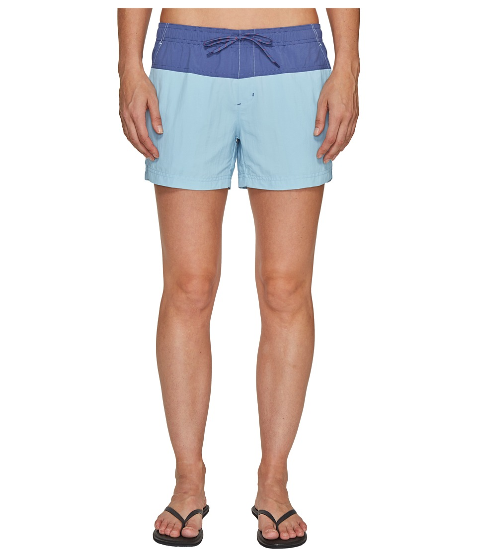Columbia - Sandy River Color Blocked Shorts (Oxygen/Bluebell/Sunset Red) Women's Shorts