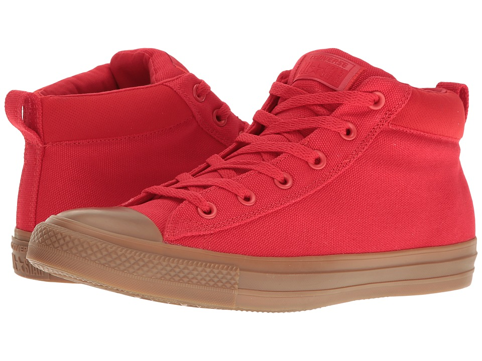 Converse - Chuck Taylor All Star Street Gum Mid (Casino Red/Dark Honey/Dark Honey) Classic Shoes