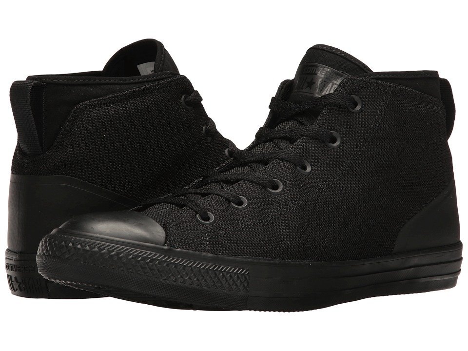 Converse Chuck Taylor(r) All Star(r) Syde Street Textile Mid (Black/Black/Black) Men