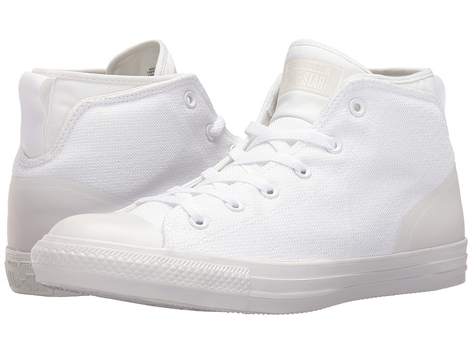 Converse - Chuck Taylor All Star Syde Street Textile Mid (White/White/White) Men's Classic Shoes