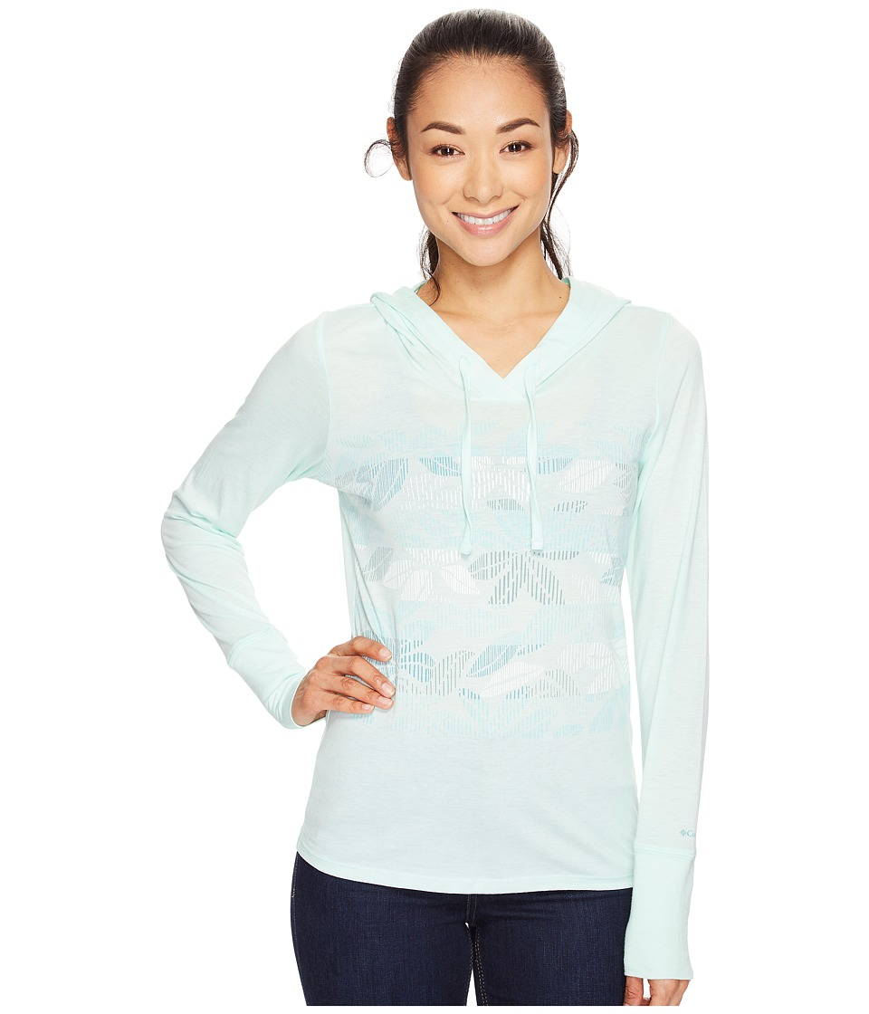 Columbia Sandy Stripes Hoodie (Sea Ice) Women