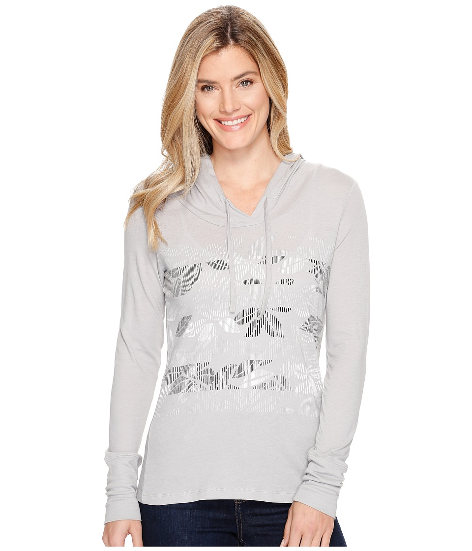 Columbia Sandy Stripes Hoodie (Grey Heather) Women