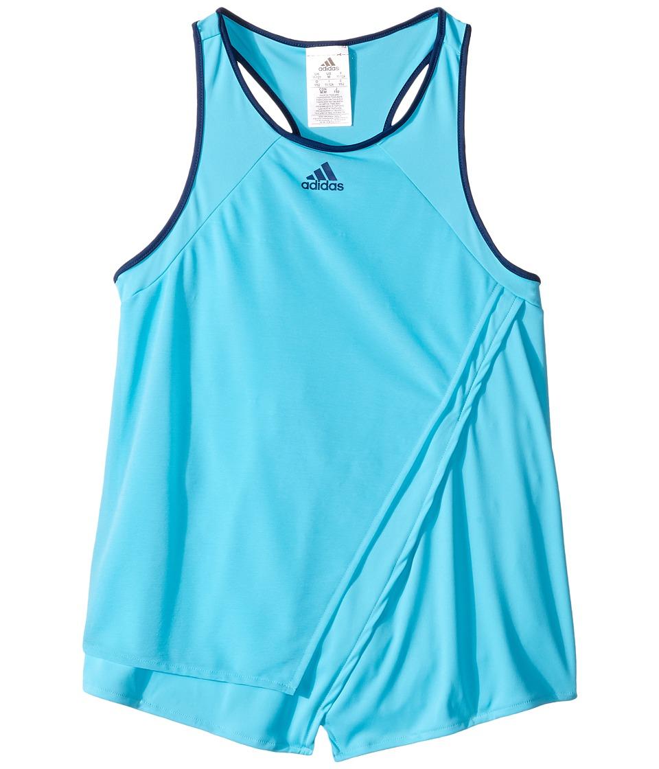adidas Kids - Melbourne Tank Top (Little Kids/Big Kids) (Samba Blue/Mystery Blue/Glow Orange) Girl's Sleeveless