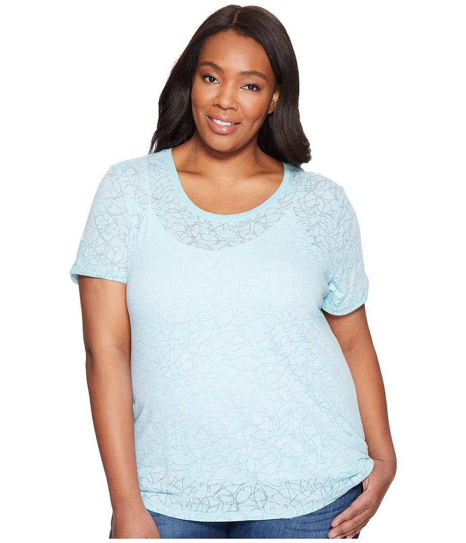 Columbia - Plus Size Sandy River Tee (Iceberg Burnout) Women's Short Sleeve Pullover