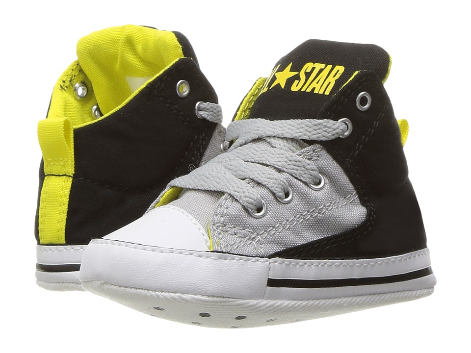 Converse Kids - Chuck Taylor All Star High Street Hi (Infant/Toddler) (Black/Ash Grey/Fresh Yellow) Boy's Shoes