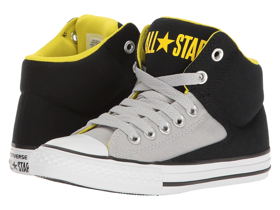 Converse Kids - Chuck Taylor All Star High Street Hi (Little Kid/Big Kid) (Black/Ash Grey/White) Boy's Shoes