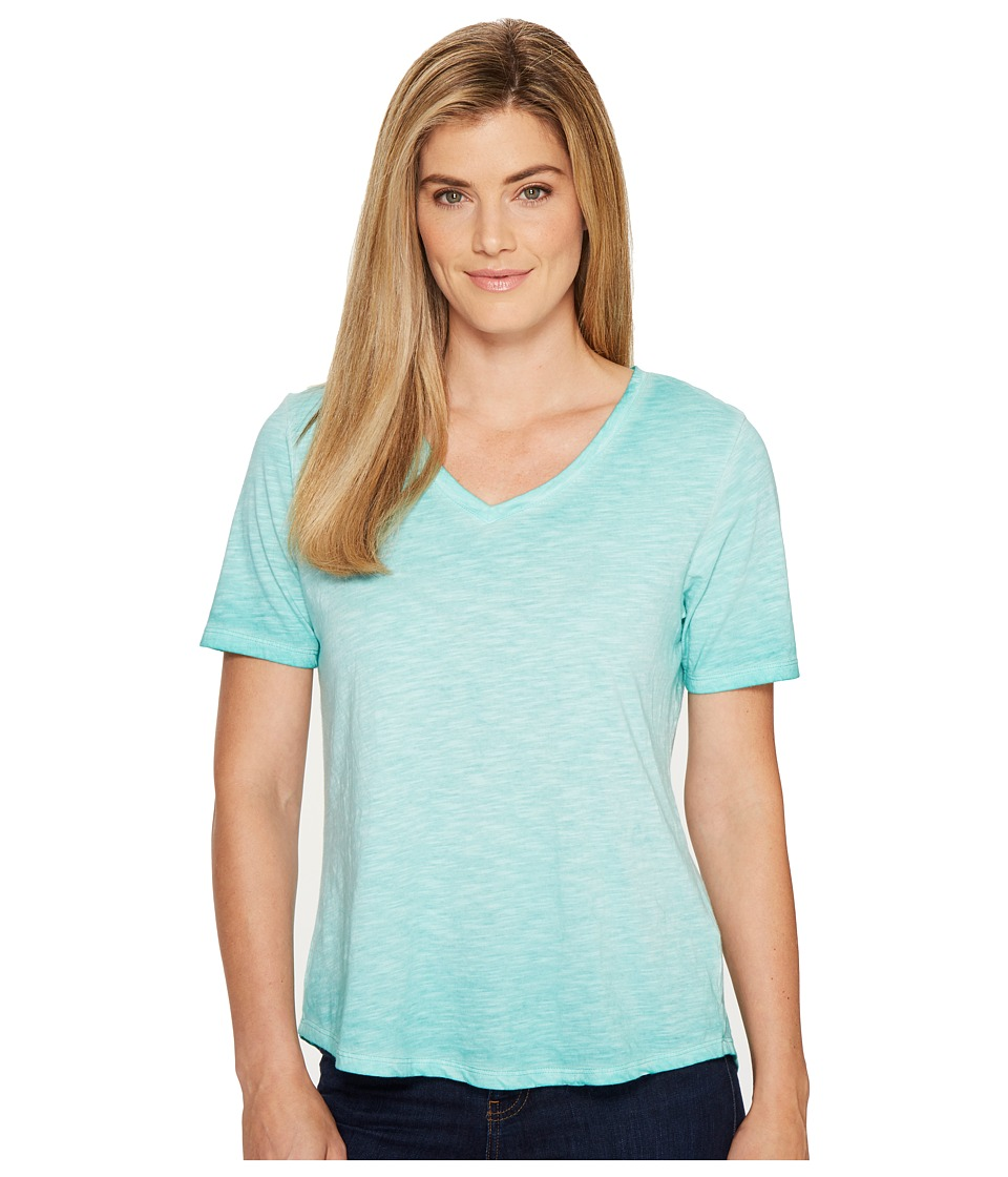 Columbia - Sandy River Treatment Tee (Miami) Women's Short Sleeve Pullover