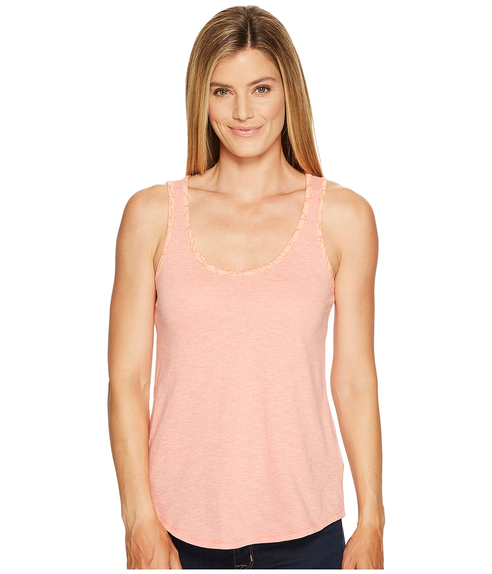 Columbia - Sandy River Tank Top (Lychee/Lychee Burnout) Women's Sleeveless