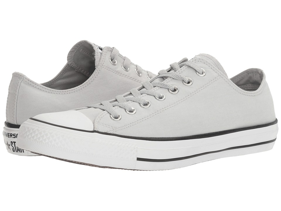 Converse - Chuck Taylor All Star Washed Chambray Ox (Ash Grey/White/Black) Classic Shoes