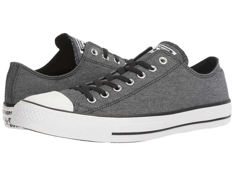 Converse - Chuck Taylor All Star Washed Chambray Ox (Black/White/Black) Classic Shoes