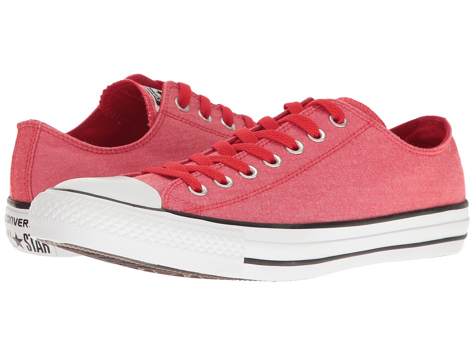 Converse - Chuck Taylor All Star Washed Chambray Ox (Casino/White/Black) Classic Shoes
