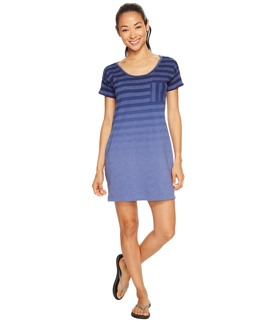 Columbia - Beach Bound Tee Dress (Bluebell Stripe) Women's Dress