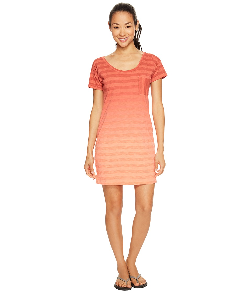 Columbia - Beach Bound Tee Dress (Lychee Stripe) Women's Dress